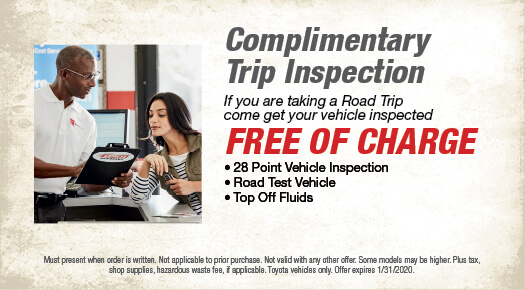 Complimentary Trip Inspection