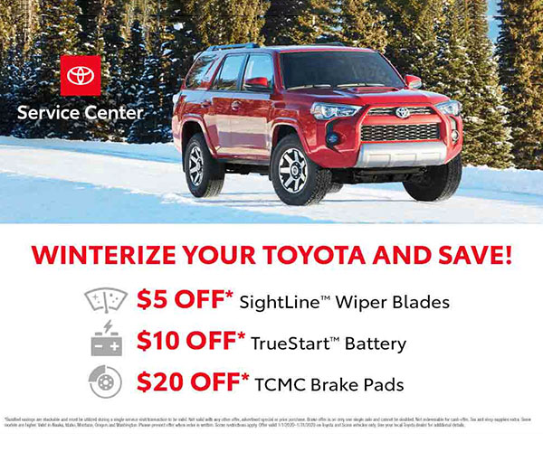 Winterize Your Toyota & Save
