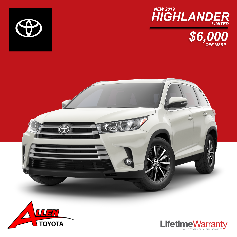 New 2019 Highlander Limited