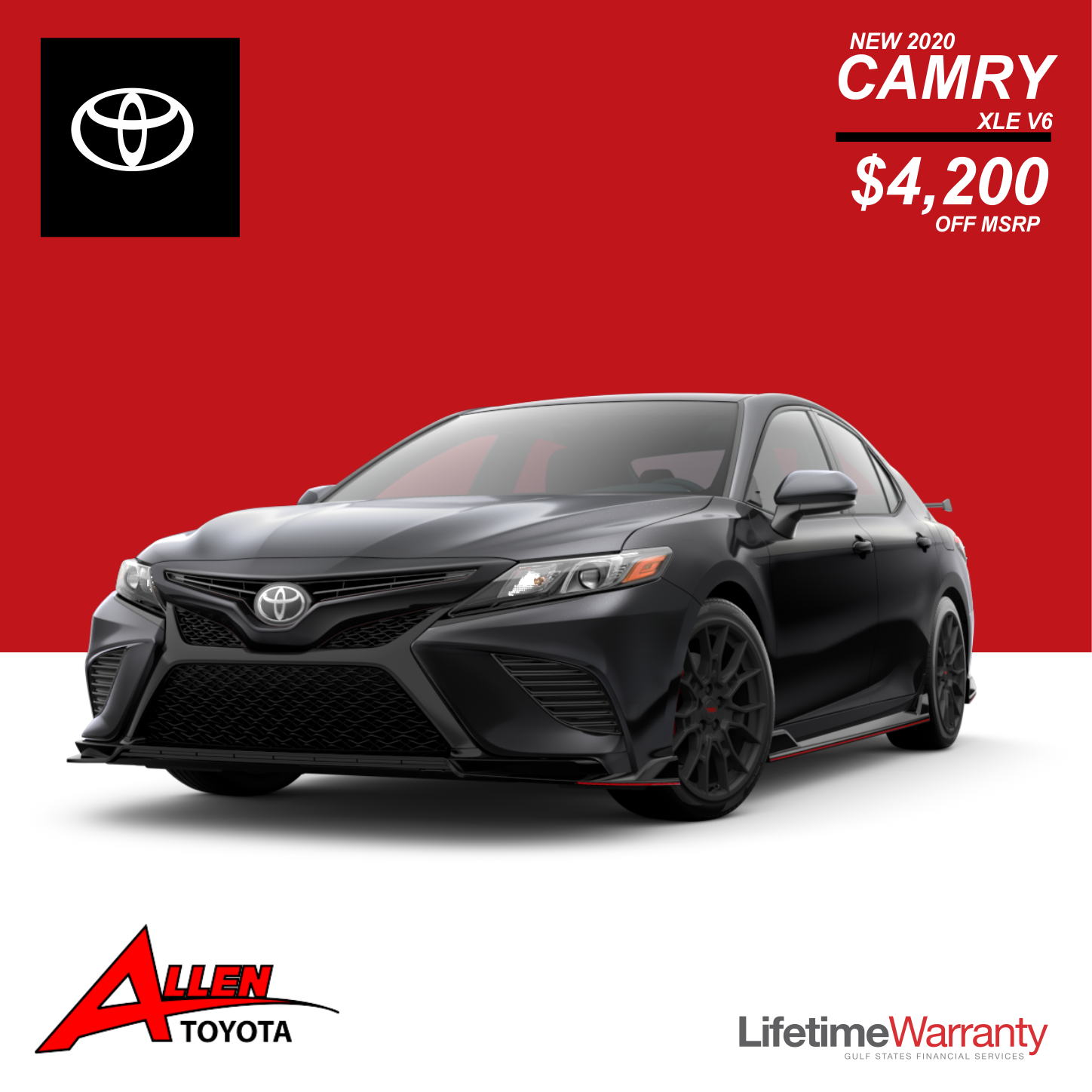 New 2020 Camry XLE V6