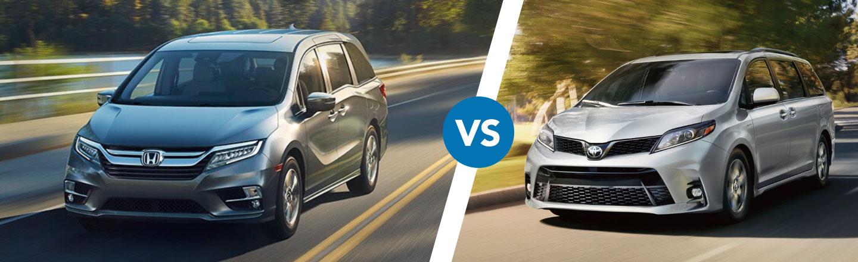 Honda Odyssey Vs Toyota Sienna >> Compare The 2020 Honda Odyssey Vs Toyota Sienna L Space