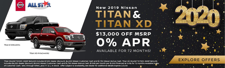 2019 Nissan Titan and Titan XD
