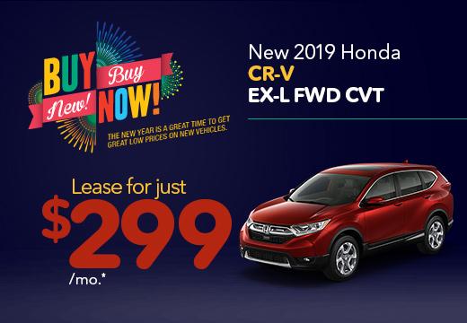 New 2019 Honda CR-V EX-L Vatland Honda
