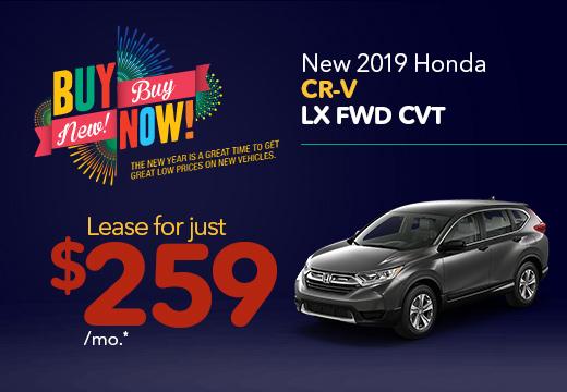 New 2019 Honda CR-V LX Vatland Honda