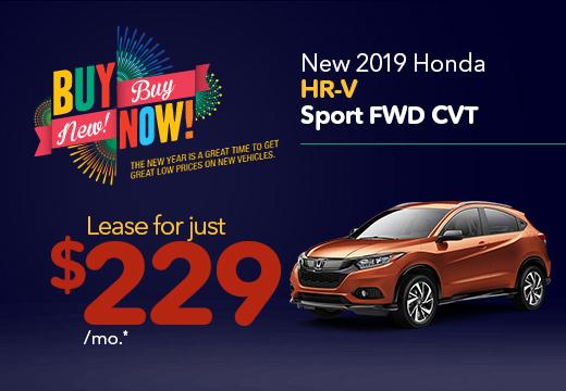 New 2019 Honda HR-V Sport Vatland Honda
