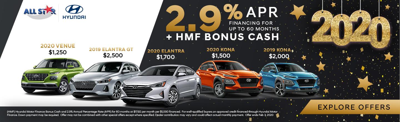 2.9% APR for Hyundai Models