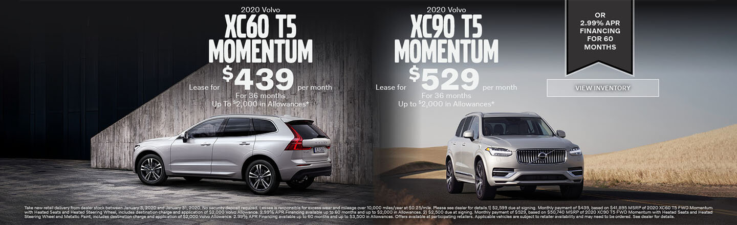 60 and XC90 T5 Momentum
