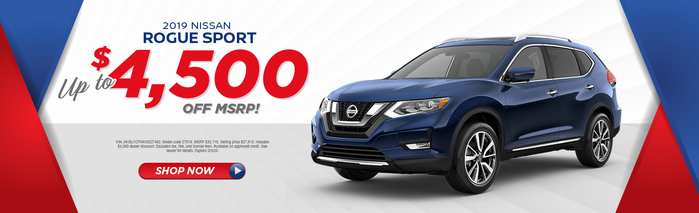 ANY 2019 NISSAN ROGUE SPORT