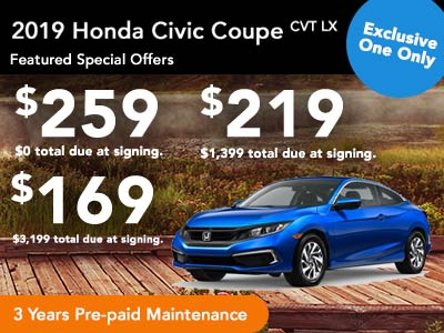 2019 Civic Coupe LX Lease