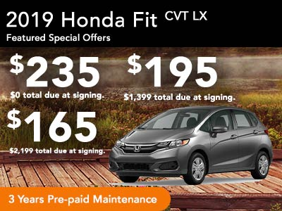 2019 Fit LX Lease