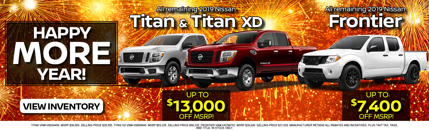Nissan Titan and Frontier