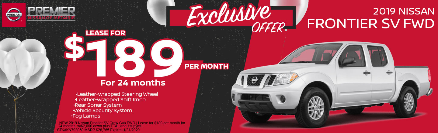 2019 Frontier SV Crew Cab   Lease Offer
