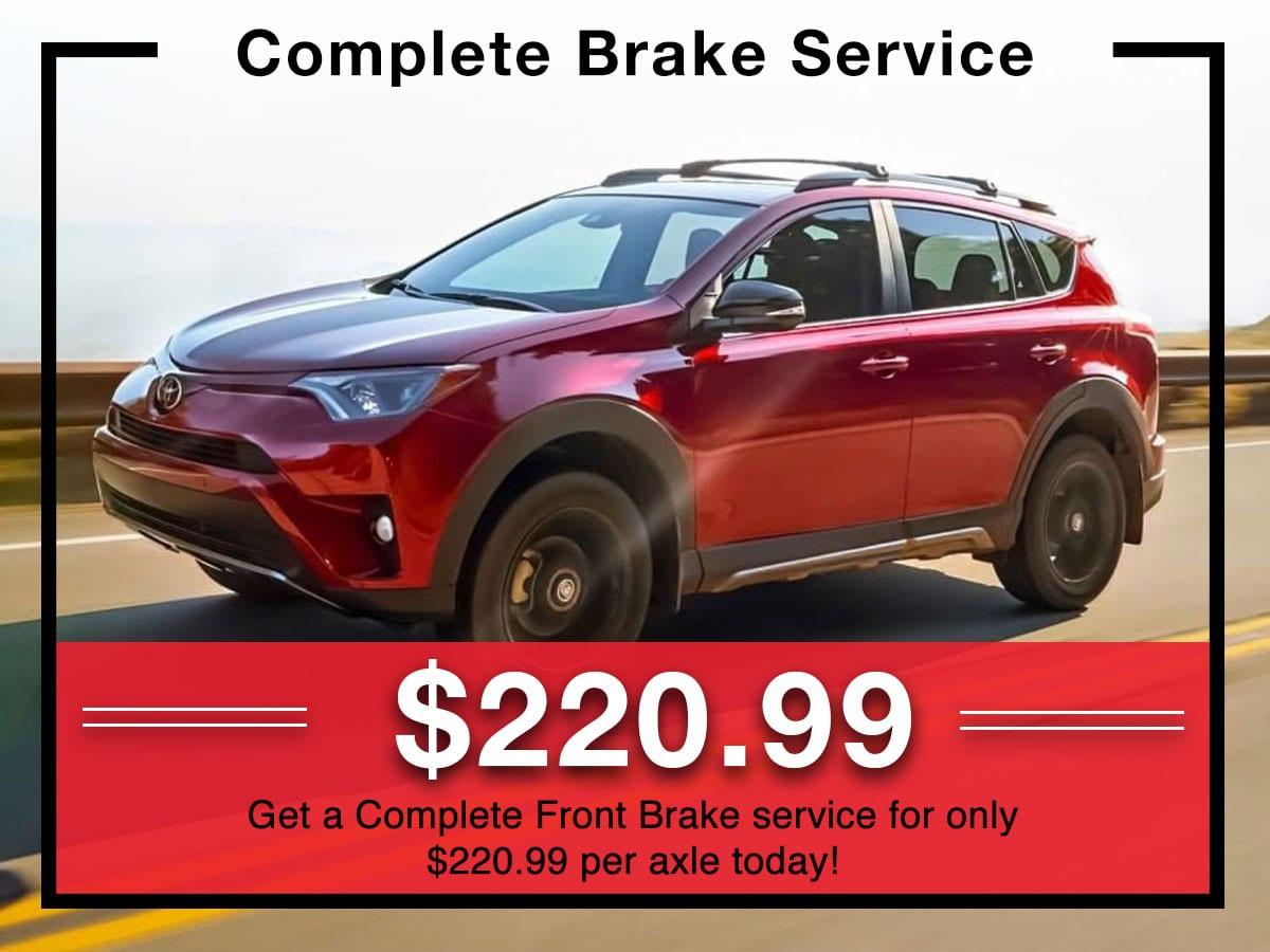 Complete Front Brake Service
