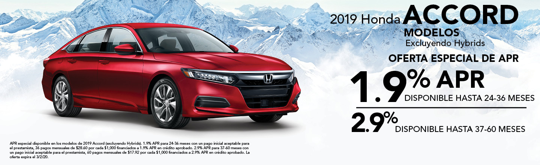 2019 Honda Accord Modelos