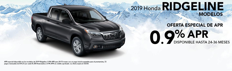 2019 Honda Ridgeline Modelos