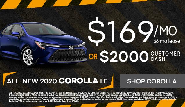 All-New 2020 Corolla LE!