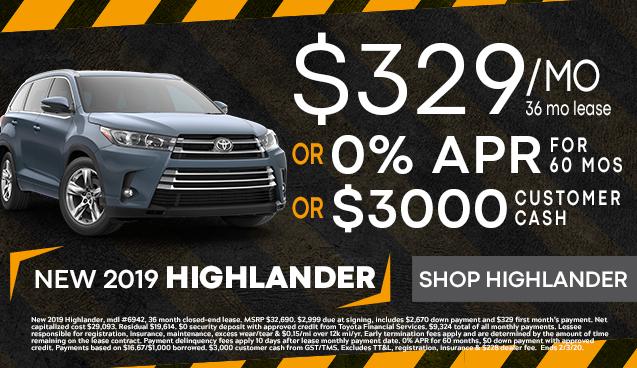 New 2019 Highlander!