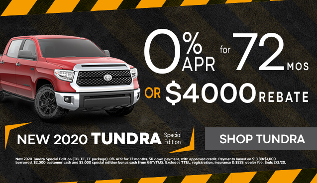 New 2020 Tundra Special Edition