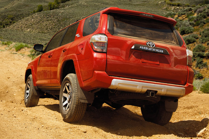 Back of red Toyota 4Runner