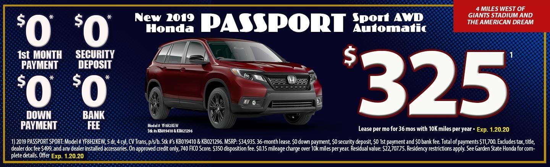 2019 Honda Passport Sport