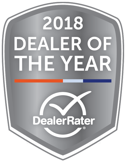 2018 Dealer of the year DealerRater