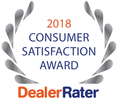 2018 Customer Satisfaction Award Dealer Rater