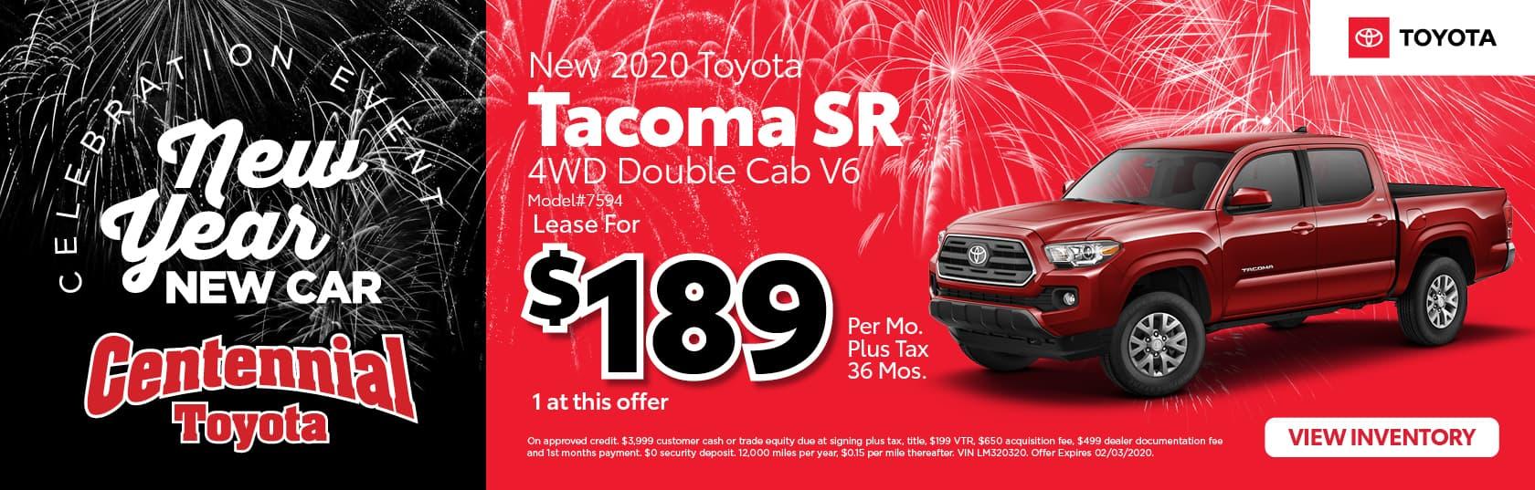 2020 Tacoma SR 4WD