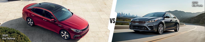 New Kia Sedan Comparison: The 2020 Kia Optima vs. the 2020 Kia Forte