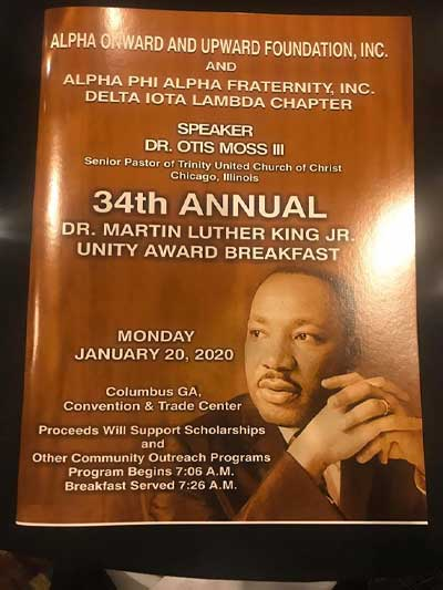 34th Annual MLK Unity Award Breakfast