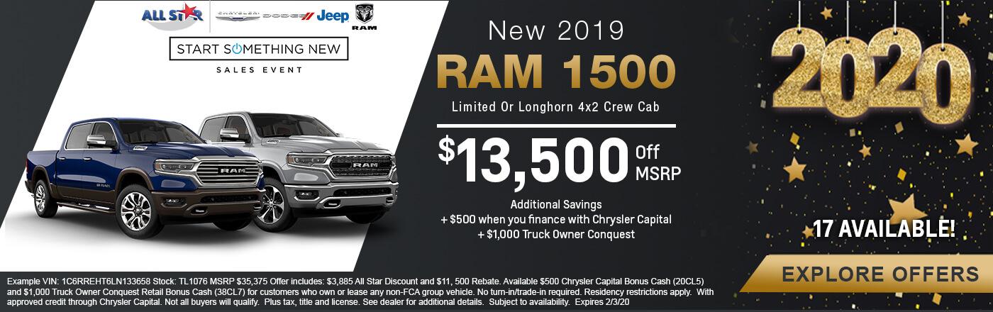 Ram 1500 Limited or Longhorn