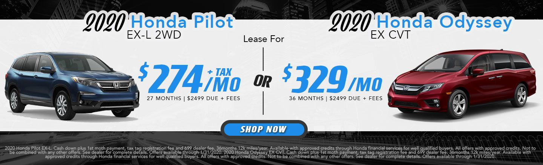 2020 Pilot & Odyssey