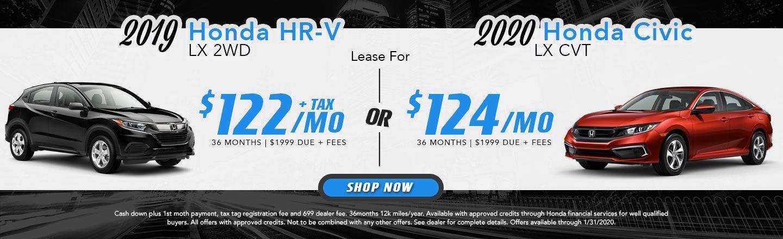 2020 Civic & 2019 HR-V