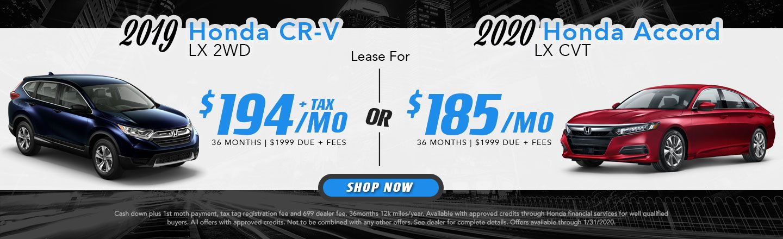 2019 CR-V & 2020 Accord