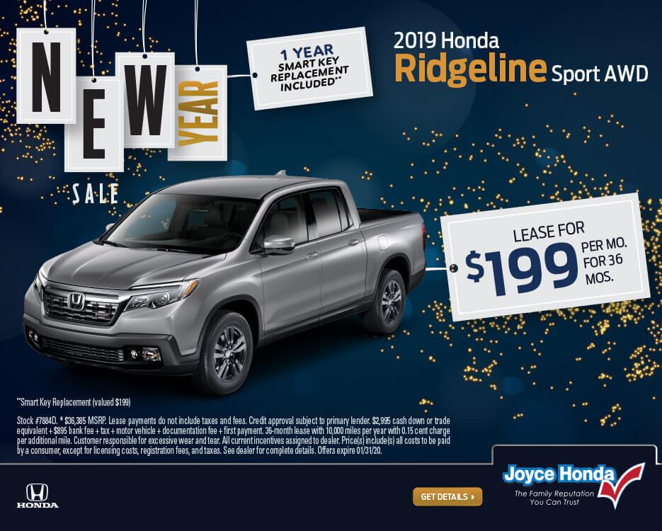 2019 Ridgeline Sport