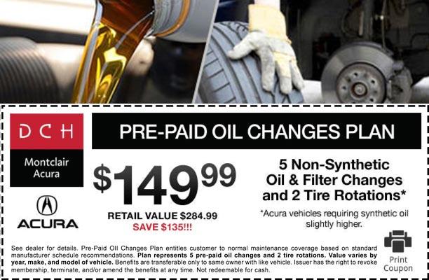 Pre-Paid Oil Change Plan