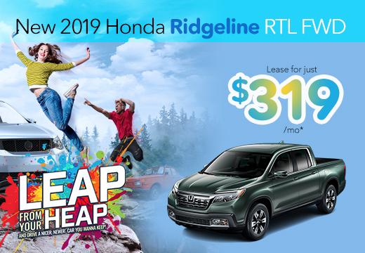 New 2019 Honda Ridgeline Vatland Honda