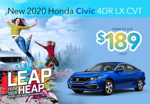 New 2020 Honda Civic Vatland Honda