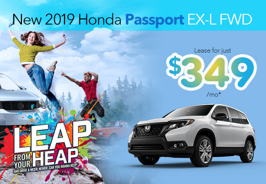 New 2019 Honda Passport EX-L Vatland Honda