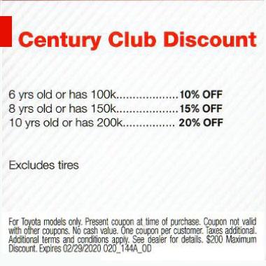Century Club Discount