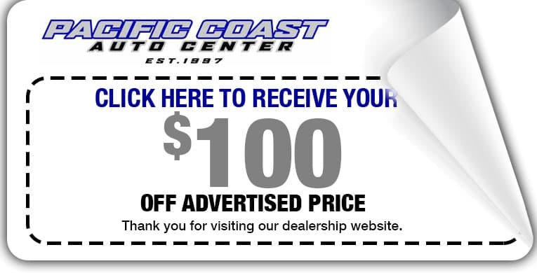 Pacific Coast $100 discount coupon