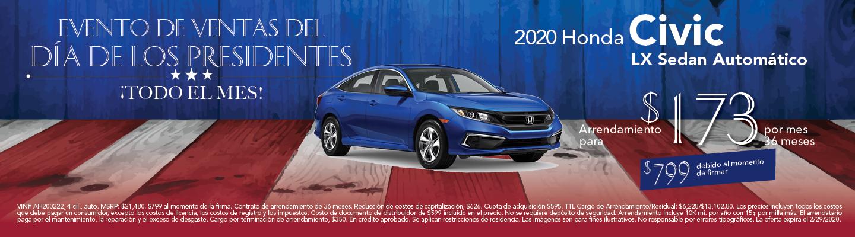 2020 Civic LX Sedan