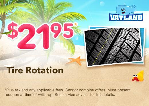 Tire Rotation Specials