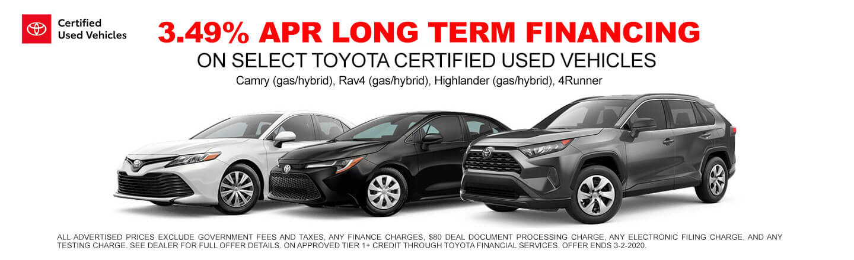 Long Term Financing - Used