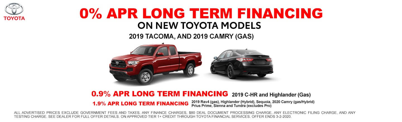 Long Term Financing - New