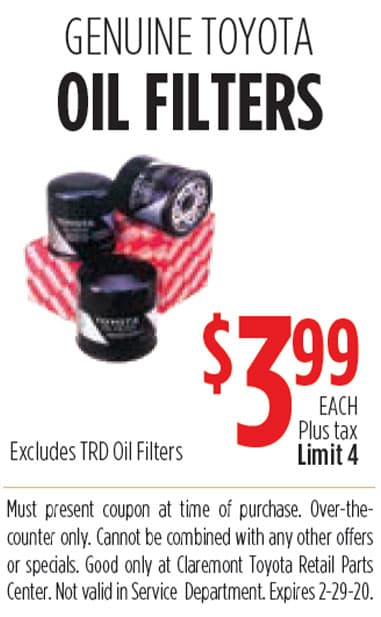 Genuine Toyota Oil Filters