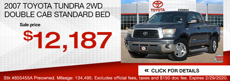 2007 Toyota Tundra 2WD Double Cab Standard