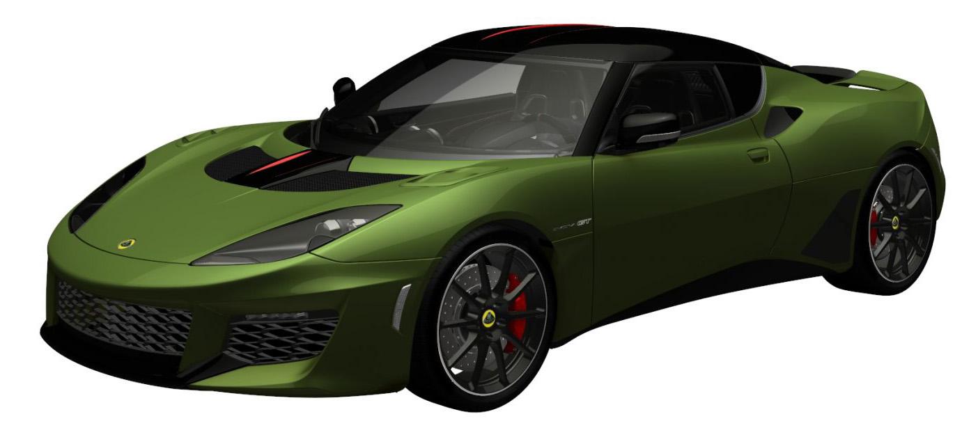 evora gt exclusive olive green