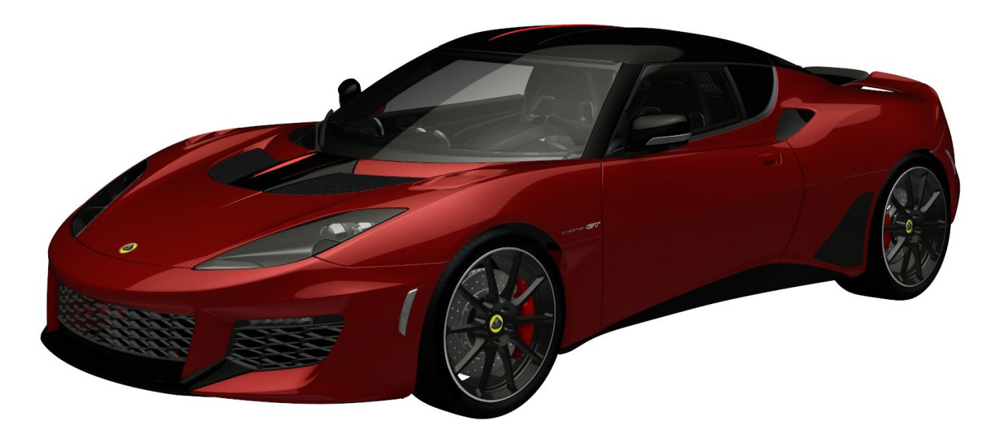 evora gt premium fire-red