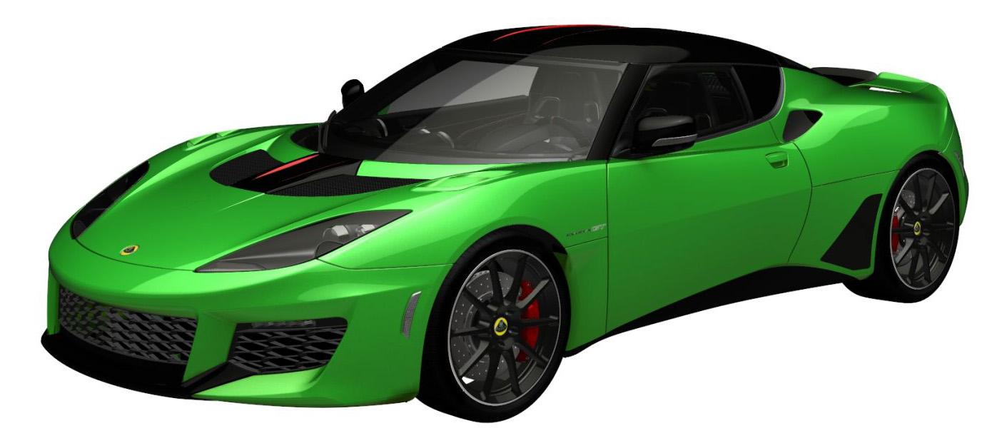 evora gt premium vivid green