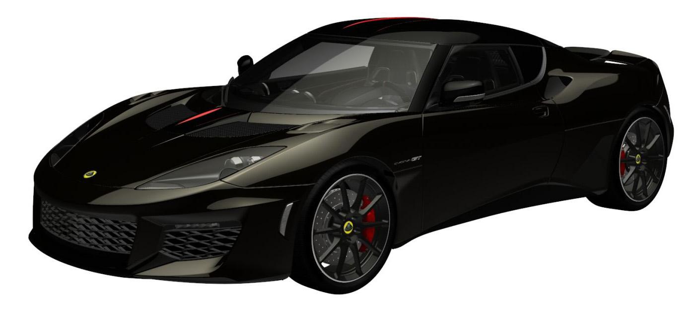 evora gt metallic motorsport black